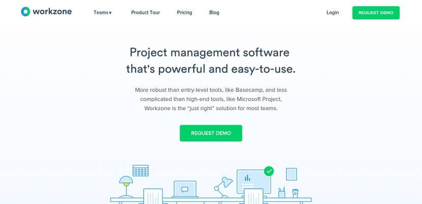 Workzone - برنامج إدارة المشاريع عبر الإنترنت