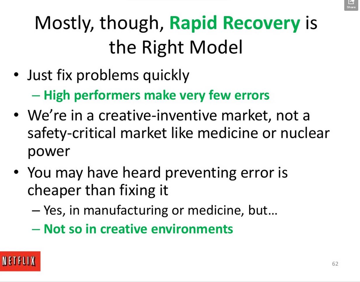 it is better to be flexible enough to recover from a problem rather than having rules to prevent them really caught me off guard and in the slides