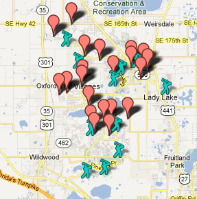 Worksheet. The Villages Florida Map