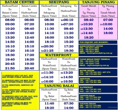 Sindo Ferry Timetable Schedule