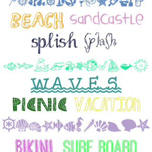 15 Summer Fonts & Dingbats