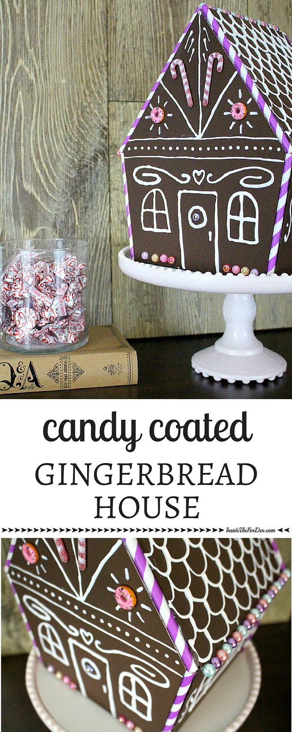 faux-gingerbread-house