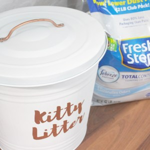 Chic DIY Kitty Litter Storage