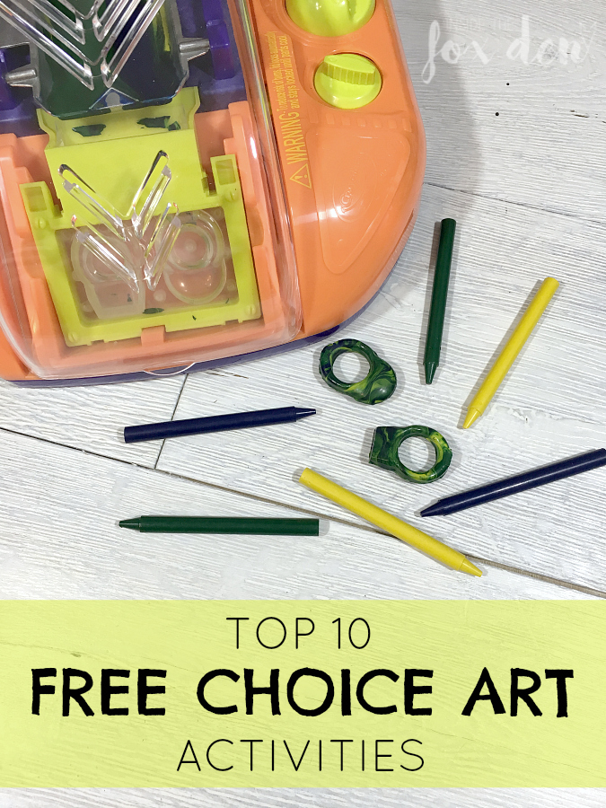 These free choice art activities make the classroom so fun! Number 10 is so unusual but I'm picking up a few immediately!