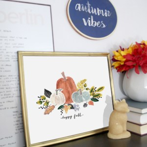 How to Style a Simple Fall Mantel Vignette