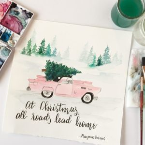 Vintage Pastel Christmas Printable