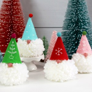 Little Gnome Pom Pom Ornament