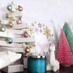 How to Style a Pastel Christmas Vignette