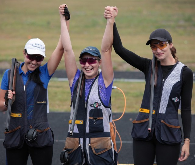 The Czech Republic Took The Womens Junior Skeet Title By Beating Russia In The Final