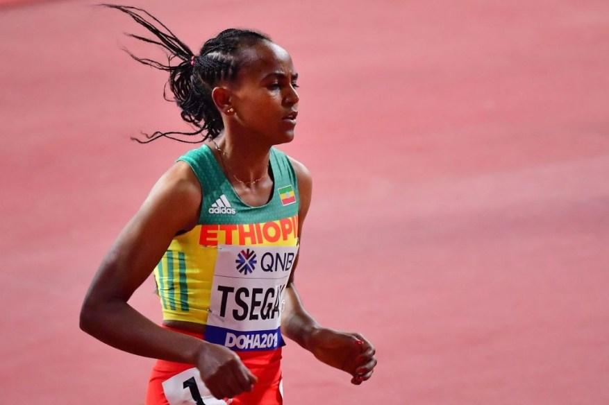 Недавно установленный Эфиопией рекордсмен мира на 1500 метров в закрытых помещениях Гудаф Цегай завтра встретится с соотечественником Хайлу Лемлемом на высоте 3000 метров в Мадриде © Getty Images