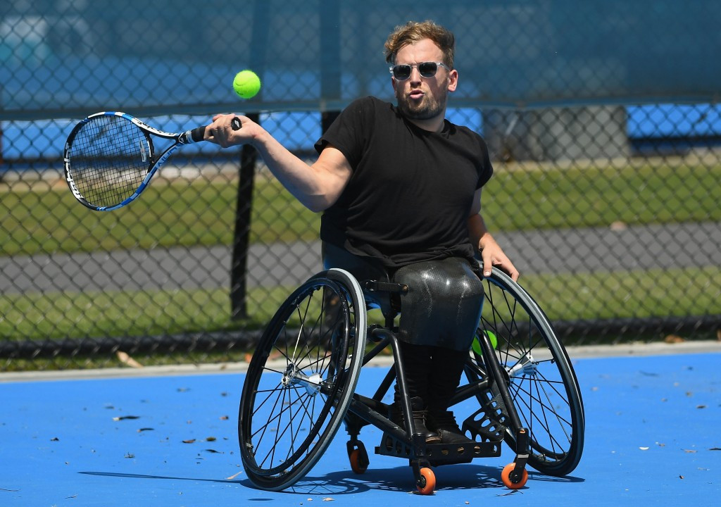 wheelchair quad chair at end of bed alcott rewarded for superb year by topping tennis singles world ranking