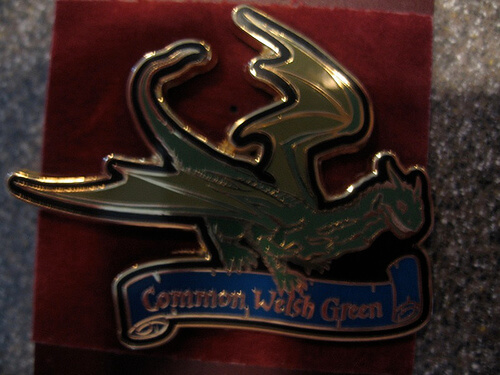 Common Welsh Green Dragon Pin $9.95