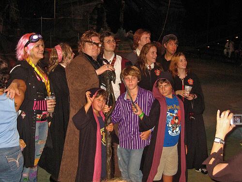 Costumed gathering