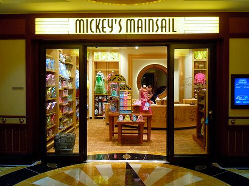 Mickey's Mainsail storeWhite Caps - Disney Dream shopping