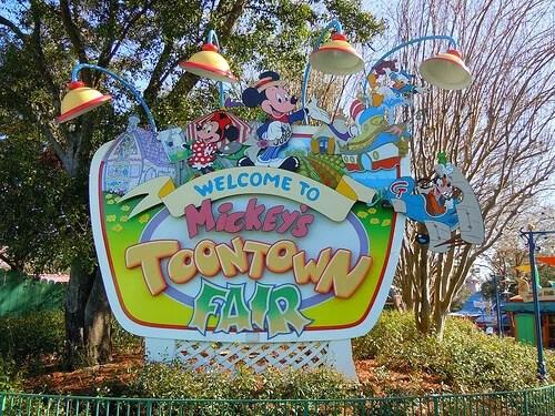 Mickey's Toontown Fair sign