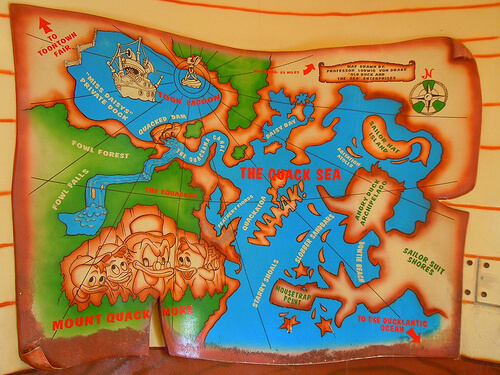 Donald's Boat -  Map