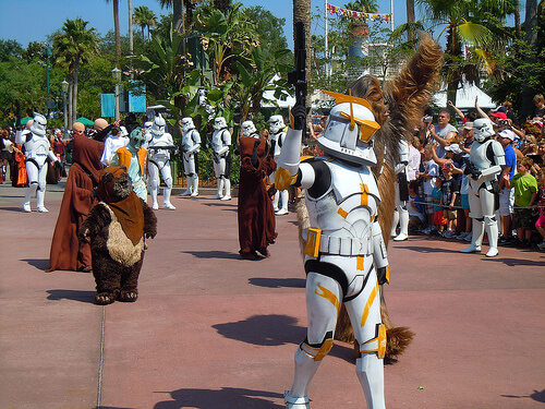 Star Tours opening - Star Wars character processional