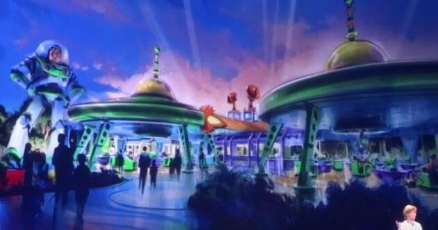 Green Alien ride Toy Story Land