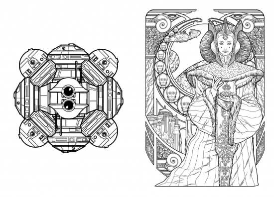 this is from star wars 100 images to inspire creativity and relaxation an art therapy coloring book apparently it has a lot of prequel imagery - Art Nouveau Coloring Book