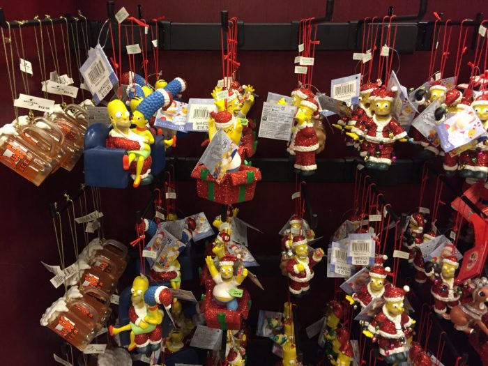 heres a sampling of the simpsons christmas ornaments available