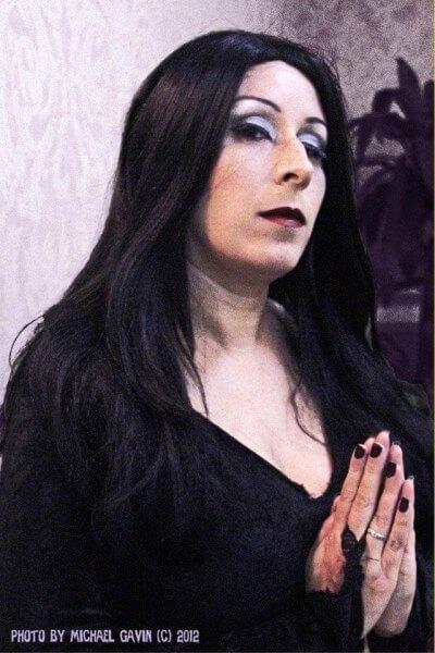 DVG as Morticia
