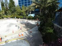Video Disneyland Hotel Pool Drained And Undergoes