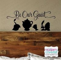 Beauty and the Beast Be Our Guest vinyl wall decal ...