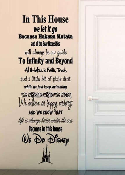 In This House We Do Disney u2013 Vinyl Wall Decal Sticker & In This House We Do Disney - vinyl wall decal sticker | Inside the Magic