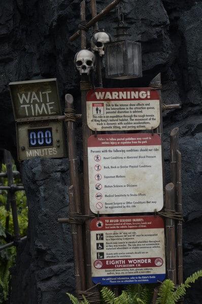 Skull Island sign
