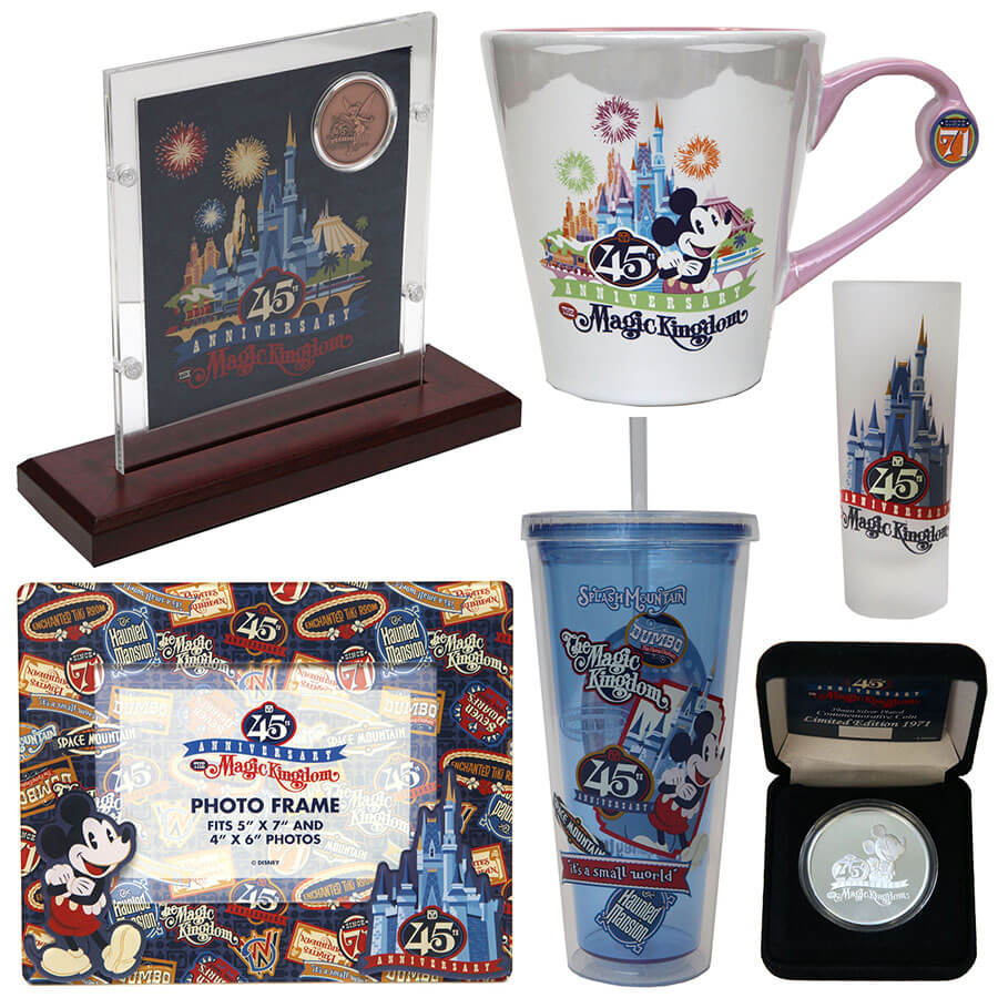 Closer look Magic Kingdom 45th Anniversary merchandise arriving in ...
