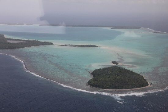 Research photo taken of the atoll of Tetiaroa rgr inspired the look and feel of the outer reef of fictional island Motunui in MOANA.