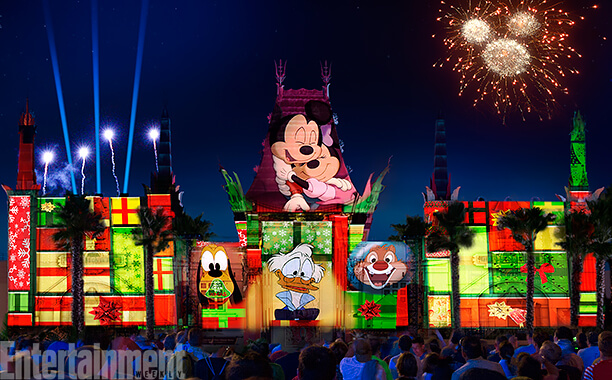the new show will be so much more than strings of christmas lights it will be a combination of fireworks special effects snow music and projections of