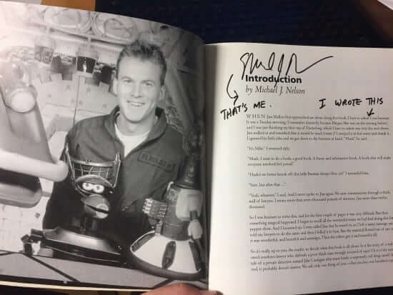 """My copy of the """"Amazing Colossal Episode Guide"""", signed by second host Mike Nelson"""