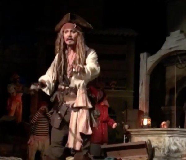 Johnny Depp Pirates of the Caribbean at Disneyland