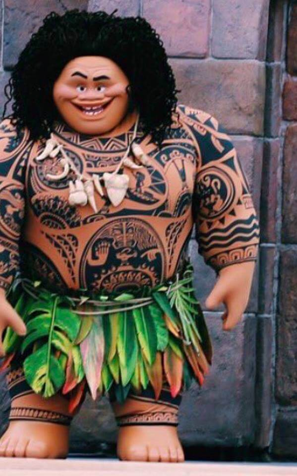 Photo maui from disneys moana makes theme park character debut maui and moana reunited in the park for a stage show and presumably hell continue to make appearances in shanghai disneyland and hopefully other disney m4hsunfo