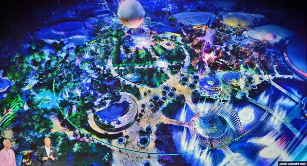Closer look future world concept art reveals the future of epcot as disney parks chairman bob chapek and imagineer tom fitzgerald unveiled a blue sky rendering of the updates coming to future world in the years ahead gumiabroncs Image collections
