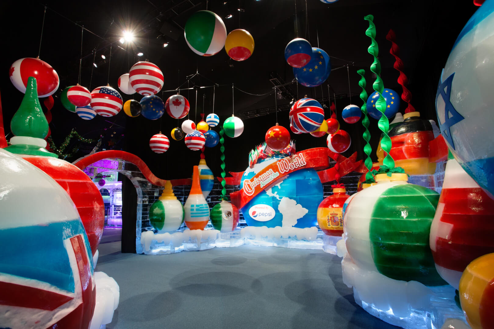 artisans from harbin china home of the worlds largest ice and snow sculpture festival travel more than 6000 miles to hand carve more than two million - Christmas Around The World Decorations For A Party