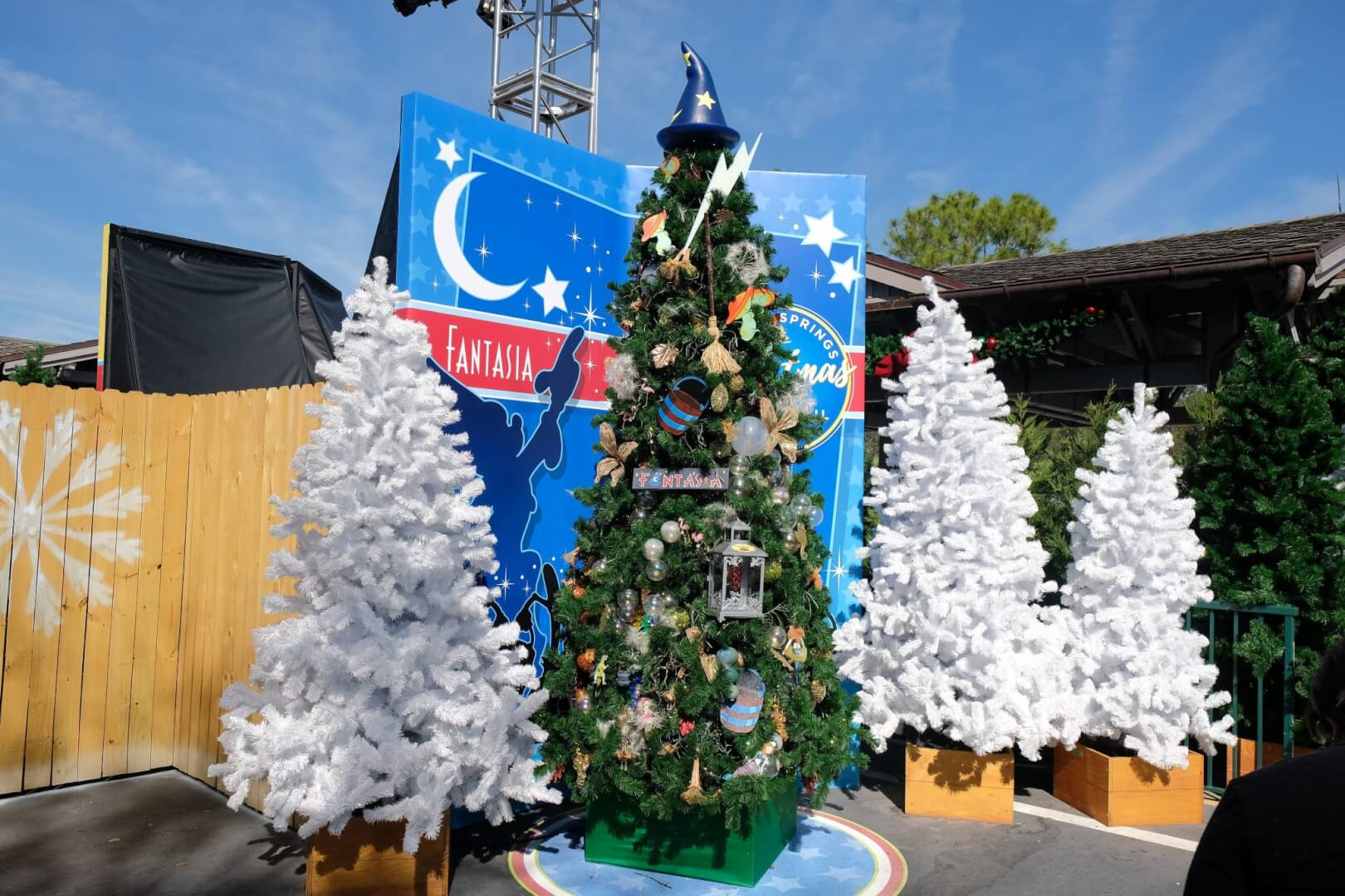 The Tree Includes The Iconic Bucket, Dancing Mushrooms, Christmas Balls