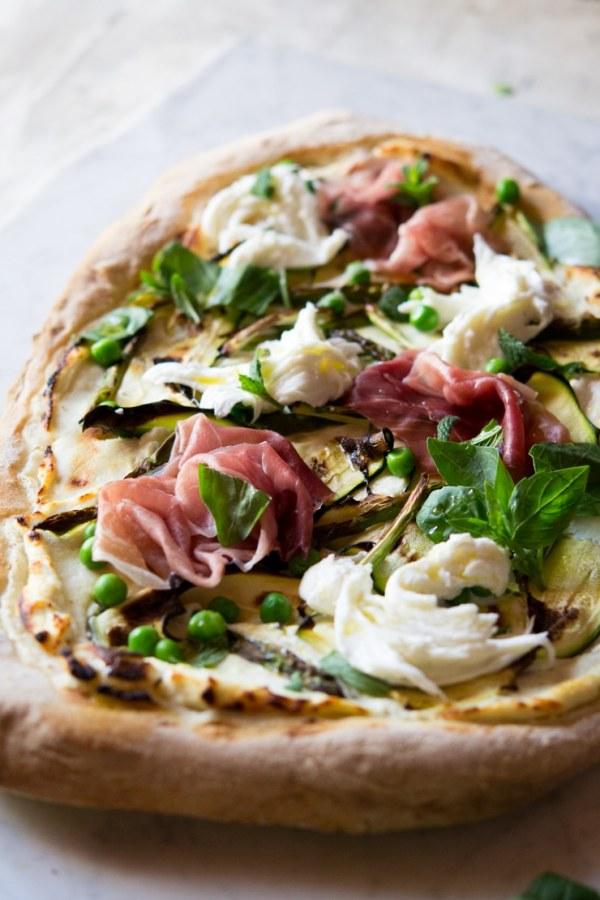 Spring Pizza With Zucchini, Prosciutto, Asparagus ...