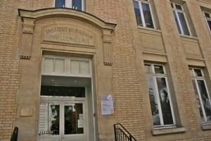 Institut du Radium p Outisde of the Marie Curie Building in Paris