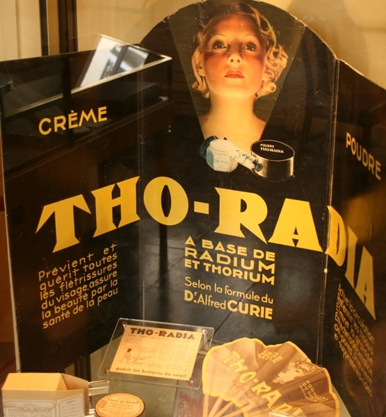 Radium Product - Radioactive Beauty Products - Marie Curie Museum