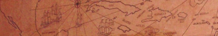 Old Script map of the world