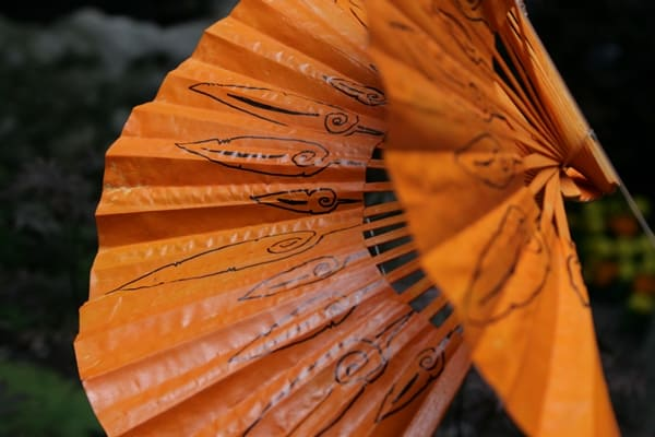 Orange Fans in Girona's Flower Festival