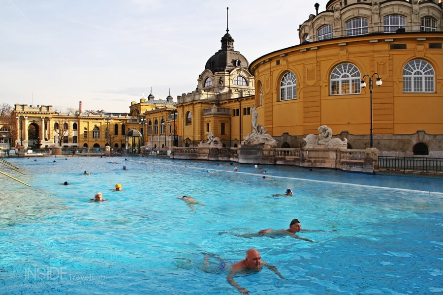 Swimming in Budapest baths