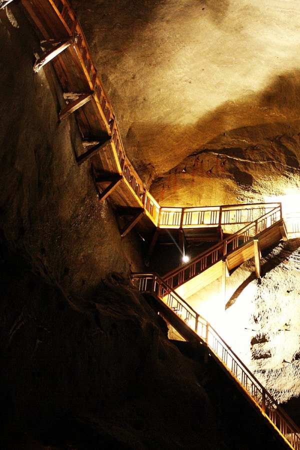 Wieliczka Salt Mine Staircase