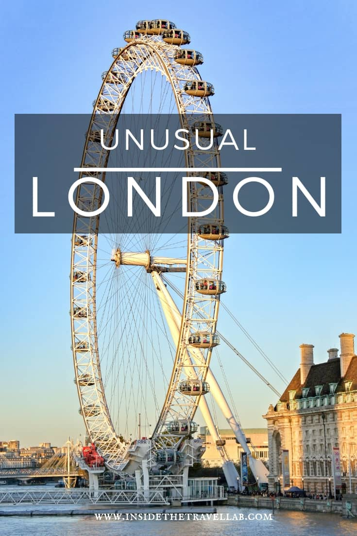 Offbeat and unusual things to do in London - great suggestions to add to your London bucket list from a born and bred Londoner. Happy travels! #London #londonengland #londontravel