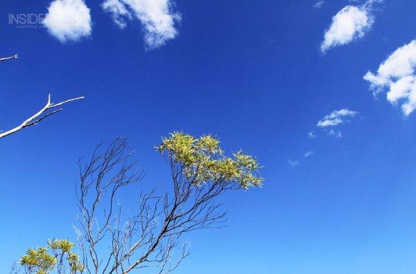 Blue skies in Australia