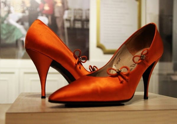 Scarlet stilettos in the Toronto Shoe Museum