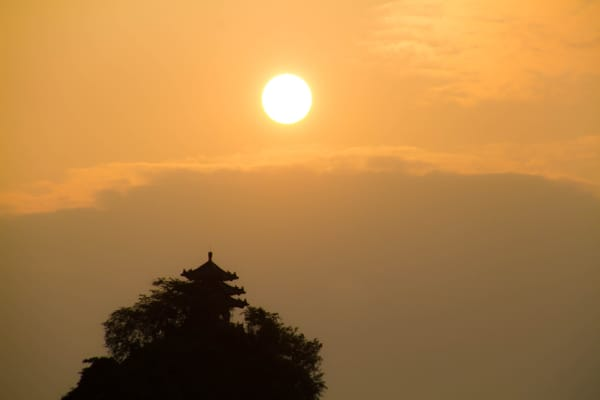 Sunset over Guilin