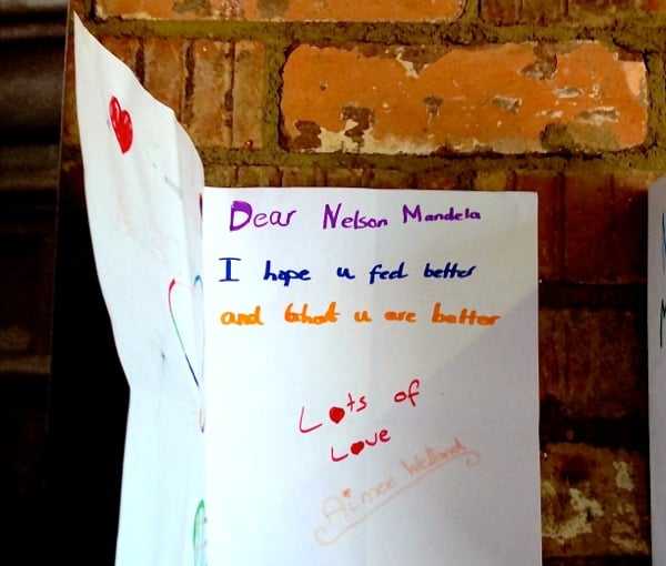 Child letter to Mandela